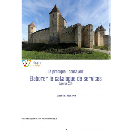 Elaborer le catalogue de services (v2.3)